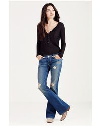 True Religion | Multicolor Low-rise Straight-leg Jeans | Lyst