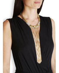 Iosselliani | Metallic Fringed 18kt Gold-plated Necklace | Lyst