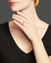 Ippolita - Blue Rock Candy® 18K Gold Mini Single Square Stone Ring In Turquoise - Lyst