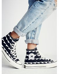 Free People | White Archive Print Hi Tops | Lyst