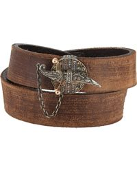Sevan Biçakci | Brown Sevan Biçakçi Leather Wrap Bracelet With Dagger Closure-Colorless | Lyst