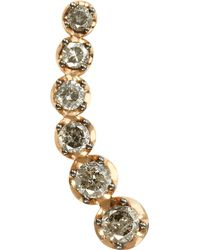Annoushka | Pink Dusty Diamonds 18ct Rose-gold And Diamond Right Ear Pin | Lyst