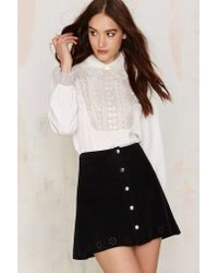 Nasty Gal - White Countess Of Monte Cristo Embroidered Blouse - Lyst