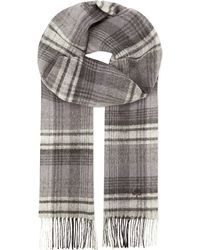 Mulberry | Black Cashmere & Wool Checked Scarf for Men | Lyst