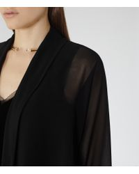 Reiss - Black Alicey Sheer Bolero - Lyst