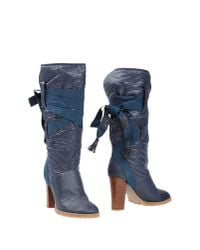 See By Chloé - Blue Boots - Lyst