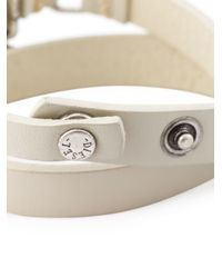 DIESEL | White Double Wrap Bracelet for Men | Lyst