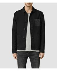 AllSaints | Black Bassett Jacket for Men | Lyst