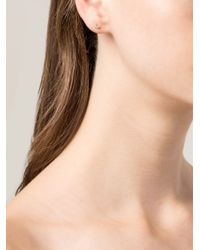 Wwake   Metallic Diamond And Opal Stud Earrings   Lyst