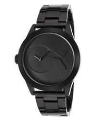 PUMA - Women's Bling Black Ion Plated Stainless Steel Black Dial - Lyst