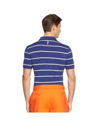 Ralph Lauren | Blue Tailored-fit Striped Polo for Men | Lyst