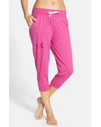 Under Armour - Pink Capri Pants - Lyst