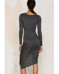 Nasty Gal | Gather At Last Jersey Dress - Gray | Lyst