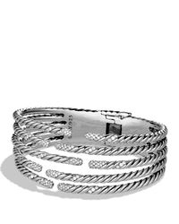 David Yurman | Metallic Willow Five-row Bracelet With Diamonds | Lyst
