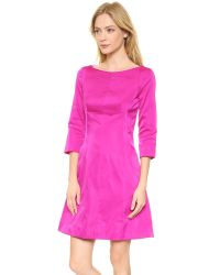 Nina Ricci - Pink 3/4 Sleeve Dress - Fuchsia - Lyst