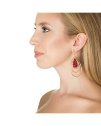 Wendy Mink | Red Garnet Roundel Earrings | Lyst