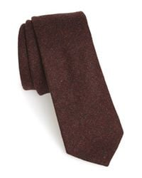 W.r.k. | Brown Solid Wool Tie for Men | Lyst