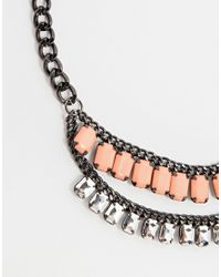 Pieces | Metallic Lakia Necklace | Lyst