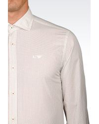 Armani Jeans | White Shirt In Cotton Poplin for Men | Lyst