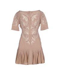 Hervé Léger - Brown Short Dress - Lyst