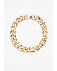 Forever 21 - Metallic Short Curb Chain Necklace - Lyst