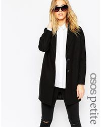 ASOS - Ultimate Cocoon Coat - Black - Lyst