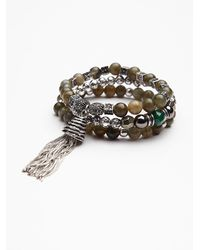Free People | Blue Ramses Beaded Bracelet | Lyst