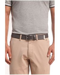 BOSS Green | Gray 'tofranc' | Leather Embossed Belt for Men | Lyst