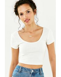 Silence + Noise | White Christina Cropped Top | Lyst