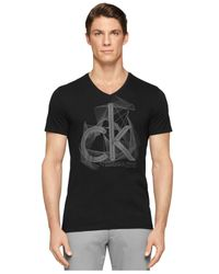Calvin Klein - Black Ck One Logo Graphic Slim-Fit T-Shirt for Men - Lyst