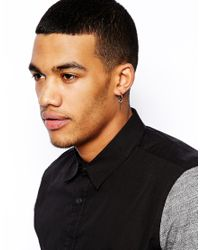 Simon Carter - Metallic Hoop Earing with 3 Charms Exclusive To Asos for Men - Lyst