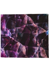 Weston - Purple Fluorite Square Silk Scarf - Lyst