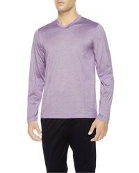 La Perla | Purple Fresh Touch V-neck-top Pyjama Set for Men | Lyst