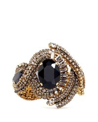 Aerin | Black X Erickson Beamon Crystal Embellished Braid Bracelet | Lyst
