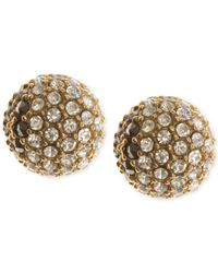 Judith Jack | Metallic Gold-plated Sterling Silver Crystal And Marcasite Fireball Stud Earrings | Lyst