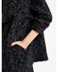 DKNY - Black Pure Shawl Collar Cardigan - Lyst