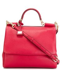 Dolce & Gabbana - Pink 'miss Sicily' Tote - Lyst