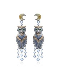 Wendy Yue | Blue Owl Chandelier Earrings | Lyst