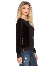 Sundry | Black Double Zip Sweatshirt | Lyst