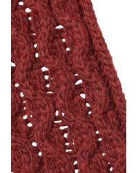 Jil Sander Navy - Knit Infinity Scarf - Red - Lyst
