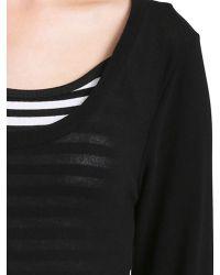 Izabel London - Black Striped Inner Detail Top - Lyst
