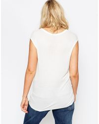 ASOS | White Slouchy Tank Top In Rib With V Neck | Lyst