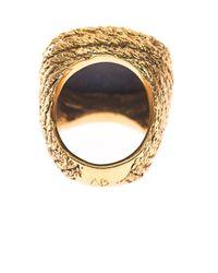 Aurelie Bidermann - Blue Miki Lapis And Gold-Plated Ring - Lyst