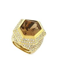 Vince Camuto - Metallic Asymmetrical Stone Cocktail Ring - Lyst