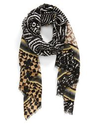 Halogen - Black Mixed Print Scarf - Lyst