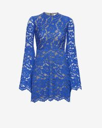 Alexis | Blue Bell Sleeve Lace Dress: Cobalt | Lyst