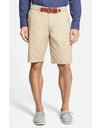 Tommy Bahama | Brown Denim 'eastbank' Flat Front Shorts for Men | Lyst