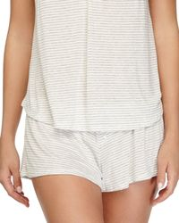 Eberjey - White Love Letters Striped Lounge Shorts - Lyst