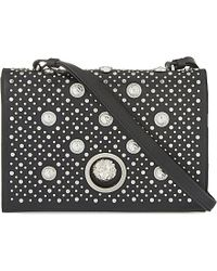 Versus | Black Studded Leather Cross-body Bag | Lyst
