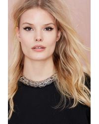 Nasty Gal | Metallic Round Up Chain Choker | Lyst